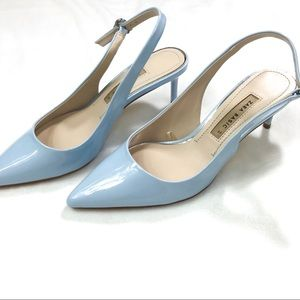 Zara blue sling back heels sandals size 37